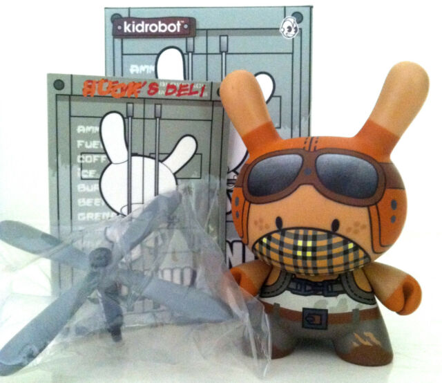 "DUNNY 3"" POST APOCALYPSE HUCK GEE COPTER BOY HELICOPTER 3/32 2013 KIDROBOT VINYL"
