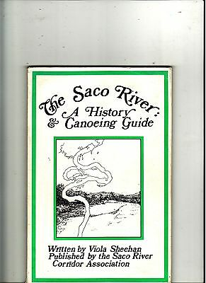 SACO RIVER (MAINE) HISTORY and CANOEING GUIDE-ILLUSTRATED-MAPS- SIGNED- on deschutes river canoe map, black river sc map, saco maine, androscoggin river new hampshire map, mid coast maine map, clinton river canoe map, sugar river canoe map, ausable river canoe map, susquehanna river map, blackwater river canoe map, mass coastal railroad map, st. croix river canoe map,