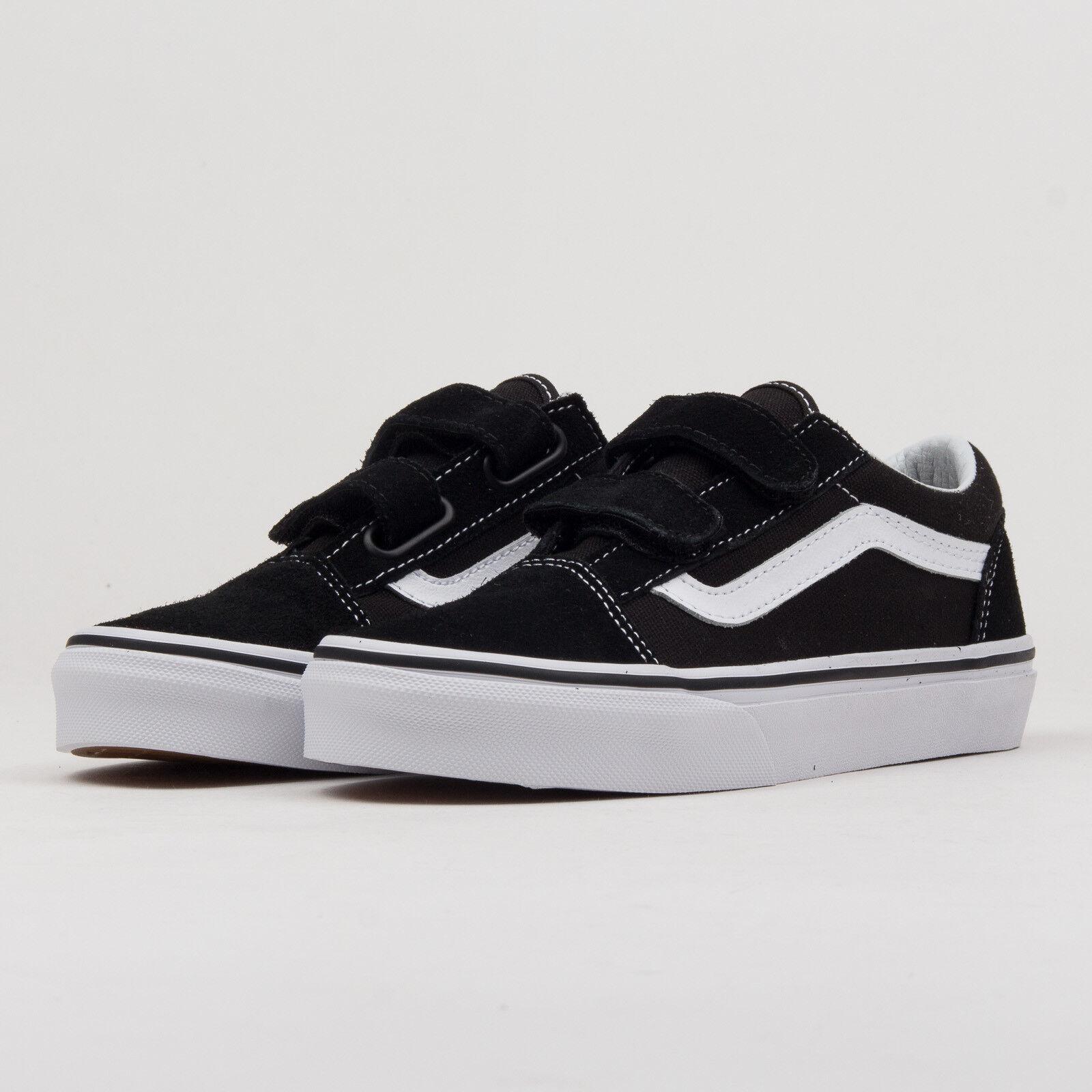 Vans Old Skool V black / true 34.5), white K 3.5 (eur 34.5), true Schwarz, VN000VHE6BT 576565