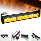 12 LED Car Truck Beacon Flashing Light Bar Hazard Strobe Warning Lamp Amber