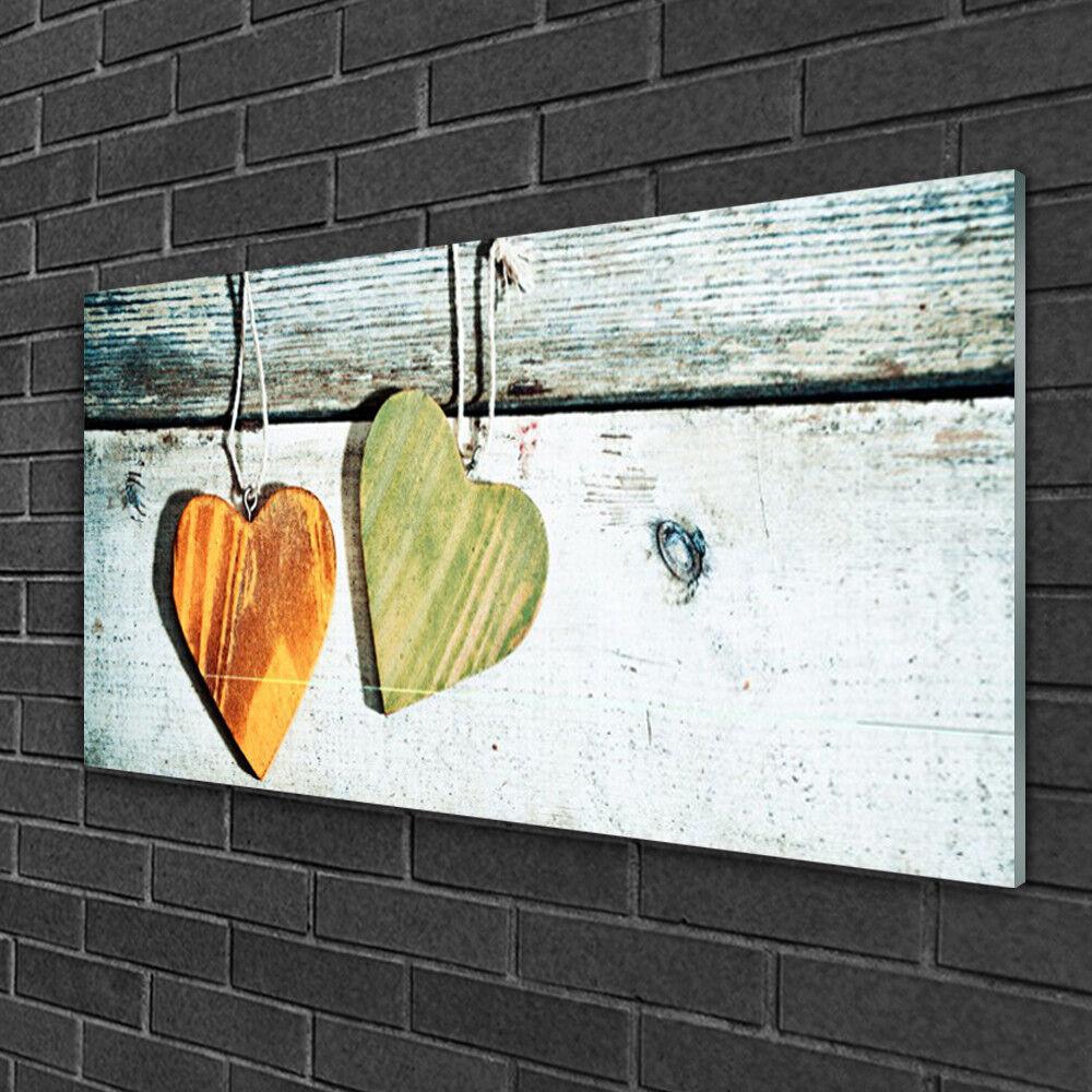 Image sur verre Tableau Impression 100x50 Art Cœur