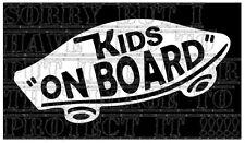 Kids on Board Vans Skate Board Skater Patinage Decal Autocollant Vinyle Signe Unisexe VW