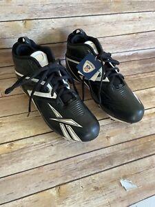 REEBOK Football Cleats size 10 Black
