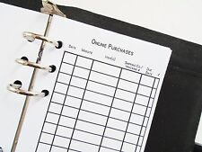 Personal size planner inserts refill online purchases filofax day-timer kikki k