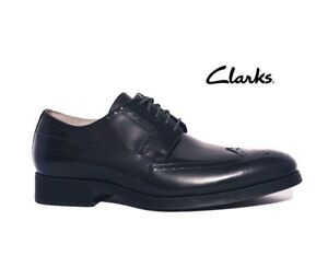 64d0c396d647 CLARKS GABWELL LIMIT RRP£95 DARK NAVY BLUE LEATHER BROGUE LACE UP ...