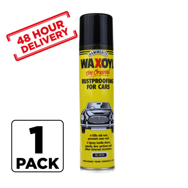 BLACK Hammerite Aerosol Waxoyl Car Rust Proofing Under Seal Wax Oil 400ml x 1