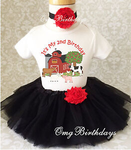 Image Is Loading Barnyard Farm Animals Red Black 2nd Second Birthday