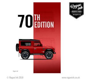 Belle Land Rover Defender 90 70th Edition V8 T-shirt Illustration 100% T-shirt En Coton-afficher Le Titre D'origine Un RemèDe Souverain Indispensable Pour La Maison