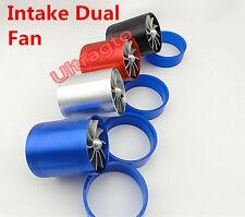 Turbonator Dual Air Intake Fan Supercharger Turbo Fan Kit Gas Fuel Saver