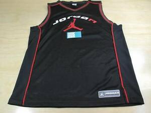 reputable site ad106 d440a Details about NIKE AIR JORDAN TEAM JUMPMAN 23 BASKETBALL JERSEY BLACK RED  XL BRED BANNED AJ I