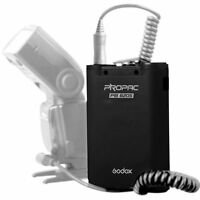 Godox External Power Battery Pack Black F/ Canon Nikon Sony Metz Flash Speedlite
