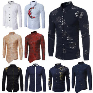 Men-039-s-Fashion-Casual-Dress-Tee-Shirt-Slim-T-Shirt-Long-Sleeve-Tops-Shirts-Blouse