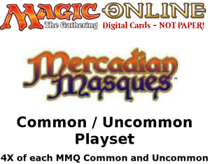 MTGO Magic Online MM MMQ Mercadian Masques Playset 960 Cards 4x Common Uncommon