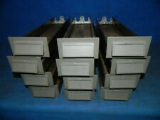 Lot Of 12 Vintage Addressograph Cabinet Metal Drawers Storage Bins