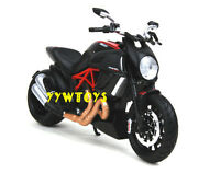 Free Shipping Maisto 1:12 Ducati Diavel Carbon Motorcycle Bike Model Black New