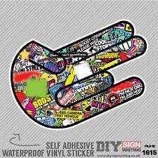 Shocker Stickerbomb Graffiti Hang Loose Self Adhesive Vinyl Sticker JDM Car Van