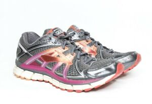 Brooks-GTS-17-Adrenaline-Women-039-s-Running-Athletic-Shoes-Gray-Pink-Red-Size-7-5