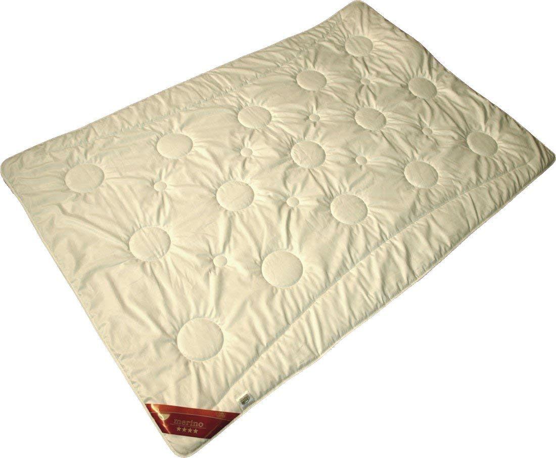 Bettdecke Merino Schafwolle extra leichte Sommerdecke Wärmestufe 1 von 5