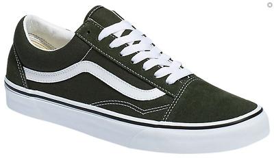 Vans Men's Old Skool Sneakers, Forest Night True White Dark Green | eBay