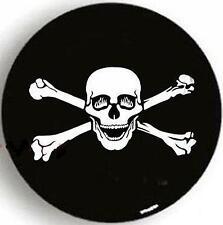 "SPARE TIRE COVER 26.3""-28.9"" w/ Skull Samurai Bone white on black zb7788230p"