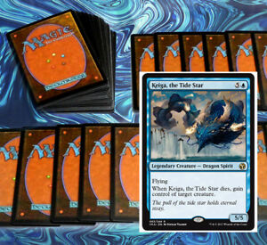 mtg-BLUE-FAVORABLE-WINDS-DECK-Magic-the-Gathering-rare-60-cards-keiga-kefnet