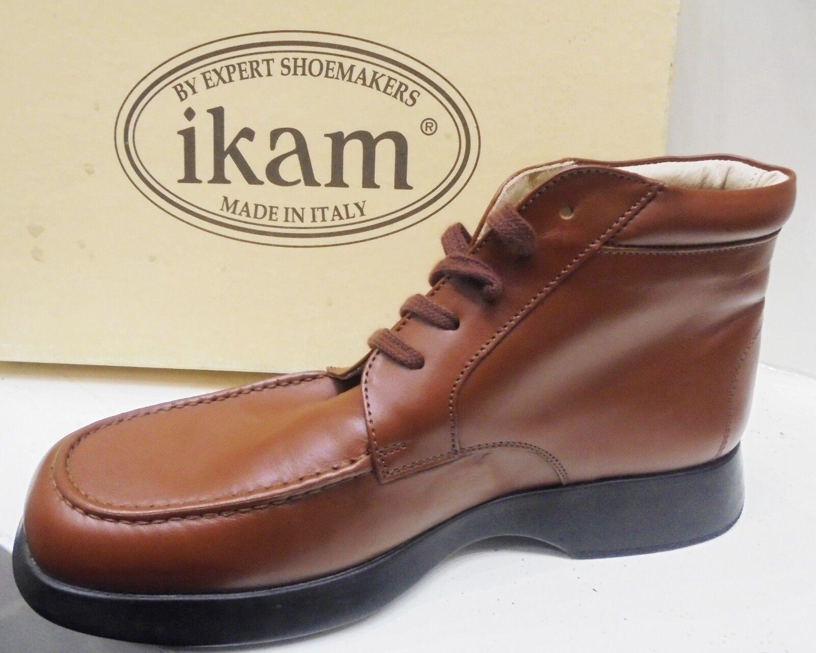 Scarponi hombres IKAM in pelle marrón botas n. 40 Made