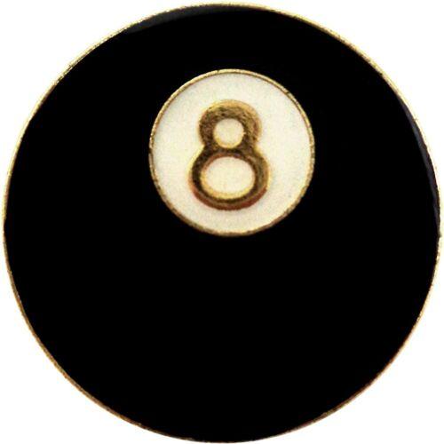 Venta al por mayor Lote de 12 bola ocho 8 PIN DE SOLAPA SOMBRERO MAGIC ocho Bola de Billar