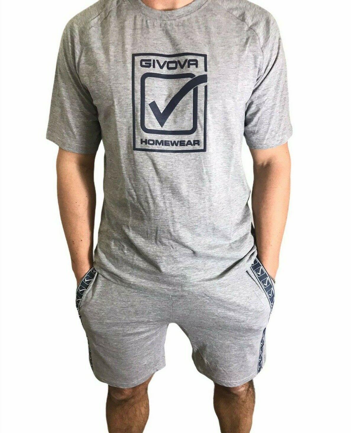 COMPLETO homewear MANICA CORTA GIVOVA UOMO SPORTIVO ESTIVO TUTA SPORT 6 MODELLI