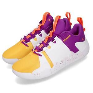 02305e78139 Nike Jordan Zoom Zero Gravity PF White Purple Amarillo Men Shoes ...