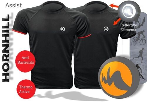 JOGGING SPORTS RUNNING THERMO TSHIRT WITH SILVER IONS AND REFLECTORS Hornhill