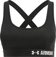 Under armour girls ladies women's bra crossback black medium M 1276503 bnwt