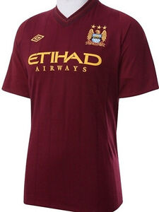 MANCHESTER CITY 2012 13 AWAY MAROON 48