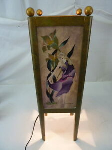 UNIQUE-HANDMADE-HAND-PAINTED-DANCING-LADIES-BORDEAUX-TABLE-LAMP-SIGNED-BY-ARTIST