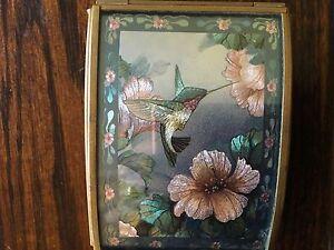 Vintage Via Vermont Music Box Hummingbird Sankyo Mvmt Brahms Waltz