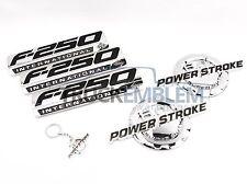 5 NEW CUSTOM CHROME F250 6.0L POWERSTROKE SUPERDUTY FENDER BADGES TAILGATE
