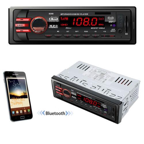 DC 12V Car Bluetooth Audio Receiver 1 DIN In-Dash FM Aux USB MP3 Stereo Radio