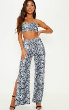 798f6131d5 item 4 Womens Snake Skin Print Bandeau Crop Top and Split Trousers Co-ord  Two Piece Set -Womens Snake Skin Print Bandeau Crop Top and Split Trousers  Co-ord ...