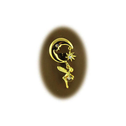 Piercing navel nelly reverse moon fairy gold plated 18k