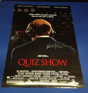 Ralph Fiennes Signed Quiz Show 27x39 Movie Poster - PSA/DNA # G76667