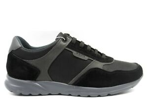 Geox-DAMIAN-U940HA-0ME22-Nero-Sneakers-Scarpe-Uomo-Calzature-Casual