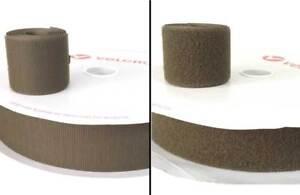 """1 m Cinta coser 50 mm Verde Nato marca VELCRO® 5 cm pelo y pincho hook loop 2"""""""
