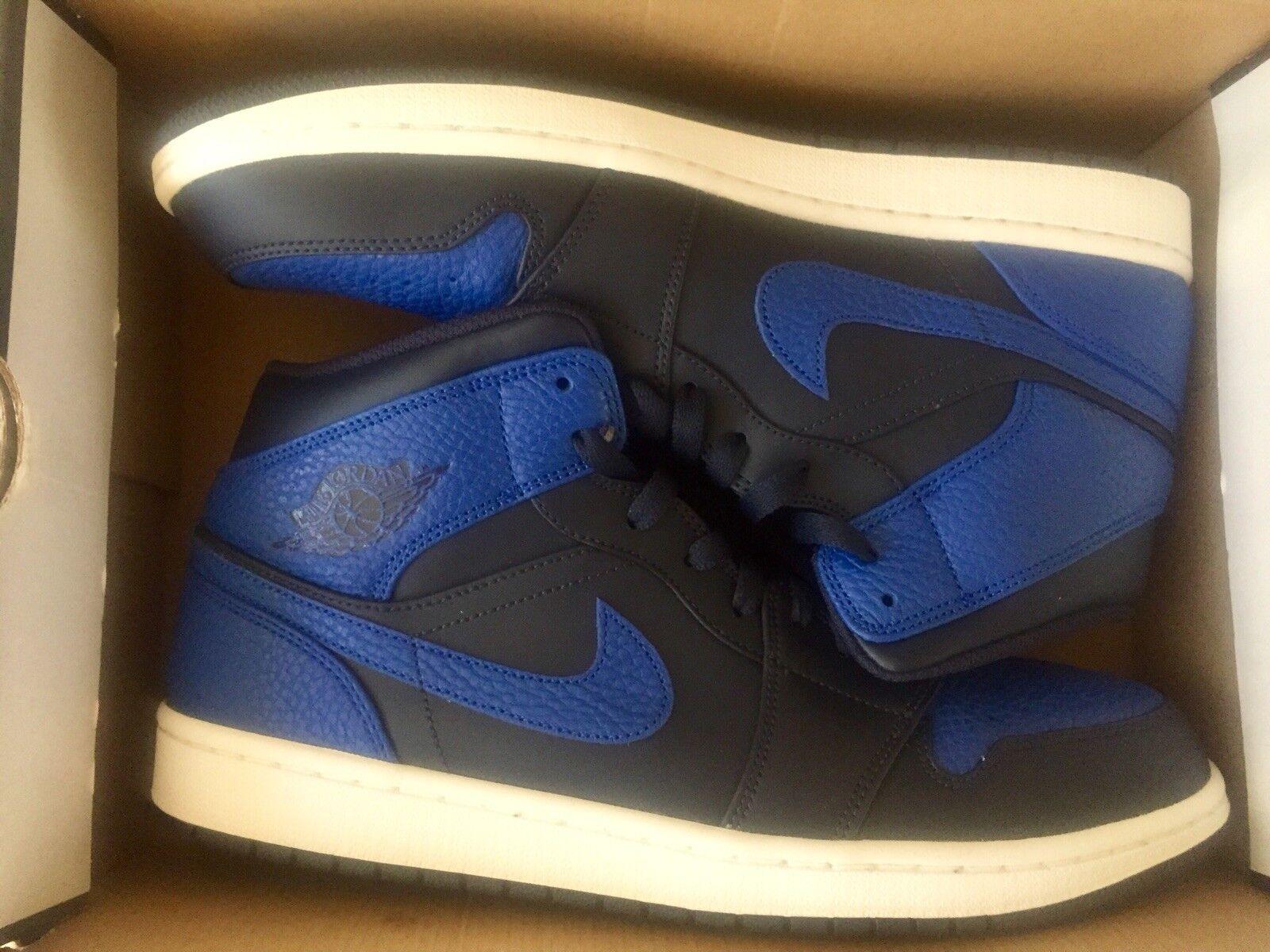 Nike air jordan 1 metà ossidiana gioco blu reale dimensioni zecca 11,5.nuovo di zecca dimensioni nella scatola. 33a390