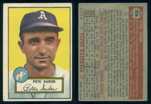Very Good 1952 Topps #256 Pete Suder