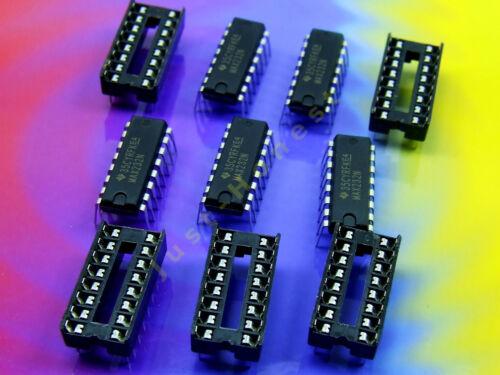 5 x MAX 232 N avec//sans dip16 Socle//Socket rs232 Serial driver pilote Stk