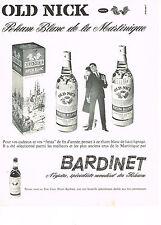 PUBLICITE ADVERTISING  1962   BARDINET  rhum OLD NICK