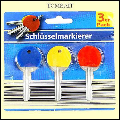 Schlüssel Markierer Set Key Marker Id Caps Keyring Top Covers Kennringe 3 Farben Attraktive Designs;