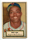 1952 Topps Monford Monty Irvin Black Back Card #26 VG Giants 15922