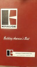 Krause Parts Amp Assembly Manual For 1800 Disc Harrow Implement