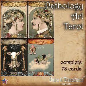 pathology-art-tarot-cards-deck-guide-book-oracle-rare-minor-major-arcana-vintage