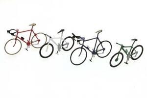 Artitec-387-219-Sport-Fahrraeder-H0-1-87-Fertigmodell-Handbemalt-Fahrrad-4-Stueck